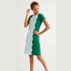 Boden Ruth Ottoman Shift Dress - Forest Size 2P